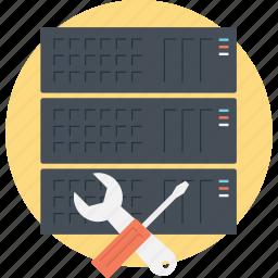 database maintenance, database service, server maintenance, server management, server repair icon