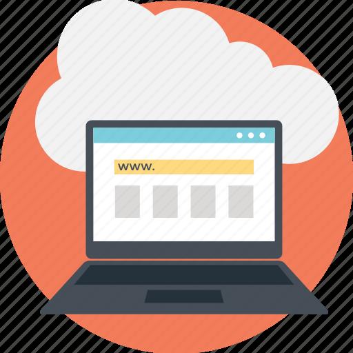cloud computing, cloud data center, cloud technology, it concept, serverless computing icon