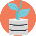 data growth, expanding data, growing information, increase server data, sql database growing icon