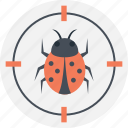 bug fixing, debugging web, fixing virus, targeting virus, web safeguard icon