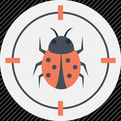 bug fixing, debugging web, fixing virus, targeting virus, web safeguard icon