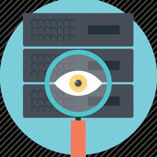 analysing server, http monitoring, network monitoring, server monitoring, server performance search icon