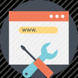 web maintenance, web maintenance services, web settings, website maintenance tools, website management icon