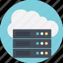 big data, cloud server, cloud technology, data cloud, server data icon