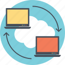 data exchange, data sharing, data transfer, file transmission, web data transfer icon
