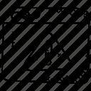 alert message, debugging, failure report, system error, web error icon