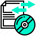 backup, communication, data, disc, transfer icon