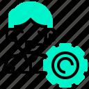 callcentre, consultant, gear, support, tech icon