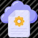 cloud file settings, file settings, document management, file configuration, page settings