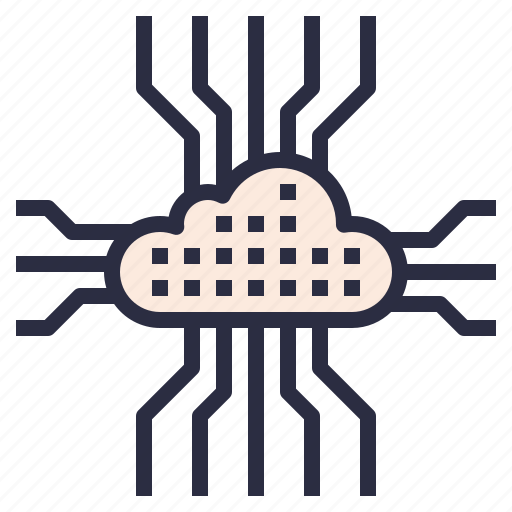 cloud, connection, data, internet, storage, technology icon