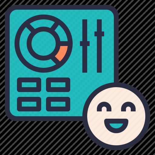 control, customer, easy, happy, panel, use, user icon