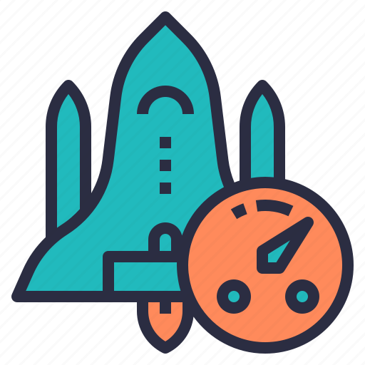 data, download, fast, rocket, speed, transfer icon