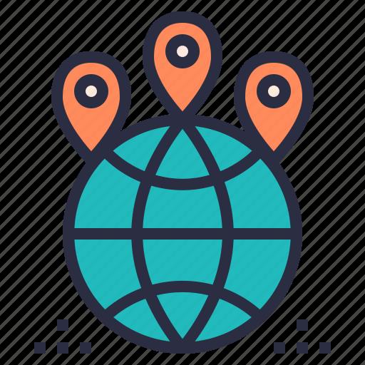 global, hosting, internet, network, service, web icon