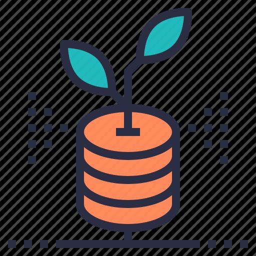 data, file, growing, hosting, transfer, web, website icon