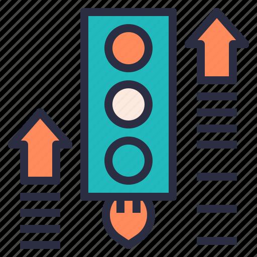 growing, increase, raising, ranking, traffic icon