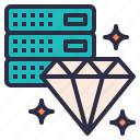 diamond, hosting, plan, premium, service, web icon