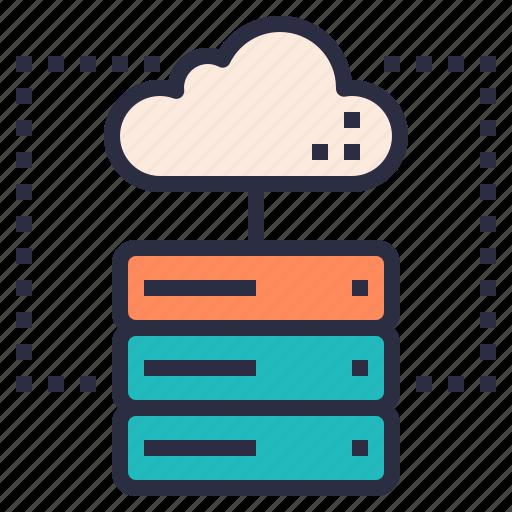 colud, hosting, internet, server, service icon