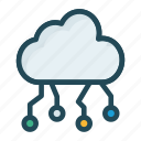 cloud, computing, connection, network
