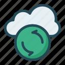 backup, cloud, database, storage icon