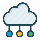 cloud, computing, network, server icon