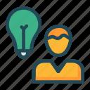 avatar, creative, idea, user icon