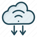 cloud, database, download, storage icon