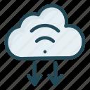 cloud, database, download, storage