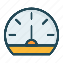gauge, measure, performance, speed icon