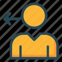 account, arrow, profile, user icon