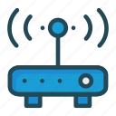 antenna, modem, router, wireless icon