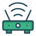 modem, router, signal, wireless icon