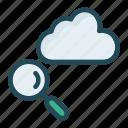 cloud, search, server, storage icon