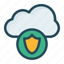 cloud, protection, secure, shield