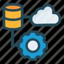 configure, database, server, setting icon