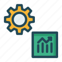 chart, graph, growth, setting icon