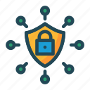 lock, protection, secure, shield icon