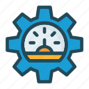 guage, measure, setting, speed icon