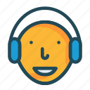 contact, headphone, services, support, us