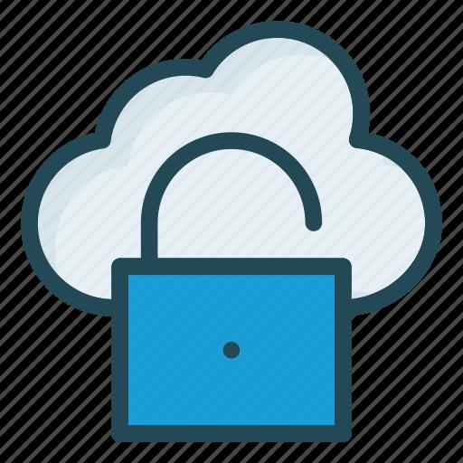 access, cloud, database, unlock icon