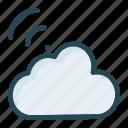 cloud, server, signal, wireless icon