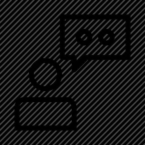 bubble, dialog, speech, user icon