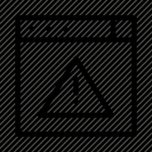 alert, error, exclamation, warning icon