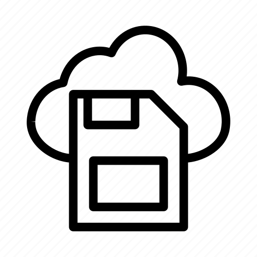 cloud, disk, floppy, save icon