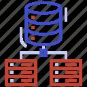 architecture, data, database, network, organization, server, structure icon