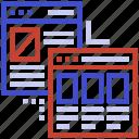computer science, search engine algorithm, server algorithm, server network, website icon