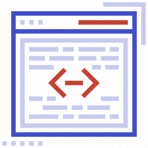 browser, coding, development, page, web icon