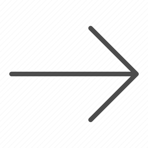 arrow, go, line, next, right icon
