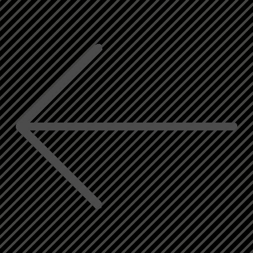 arrow, back, left, line, right icon