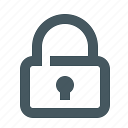 gizmo, interface, lock, locked, secure, simple, web icon