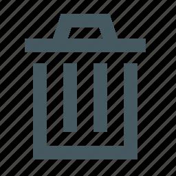 bin, garbage, gizmo, interface, simple, trash, trash bin, trash can, web icon